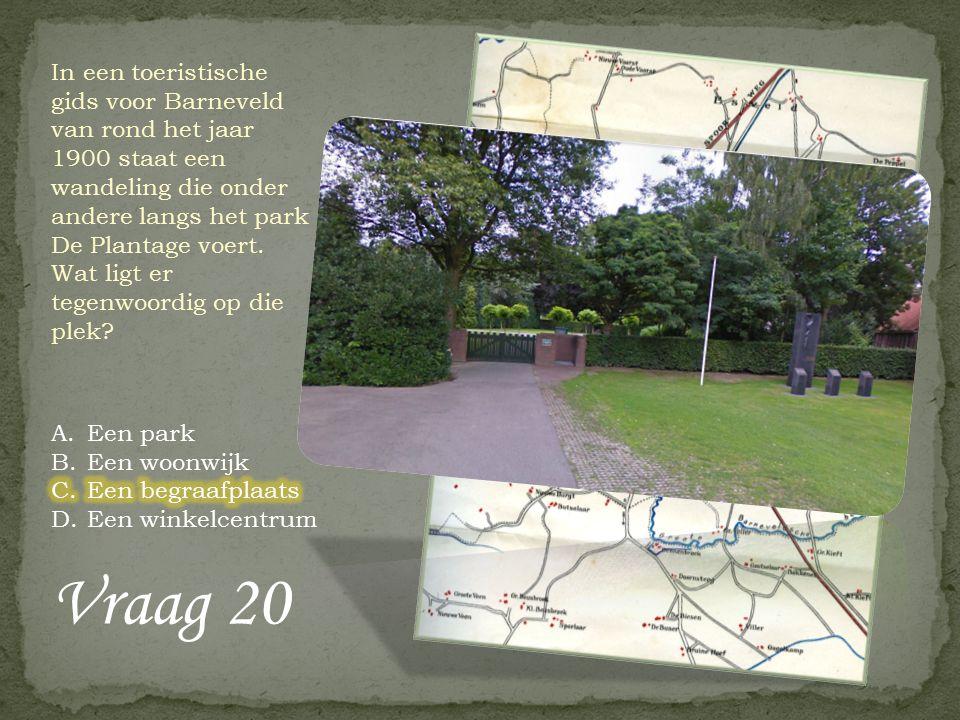Vraag 19 Op 4 april 1938 plantten leerlingen van de Julianaschool een boom aan de Gasthuisstraat in Barneveld ter ere van…