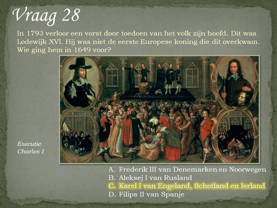 Vraag 27 Wie of wat waren grasmeisjes Stadhouder Willem V