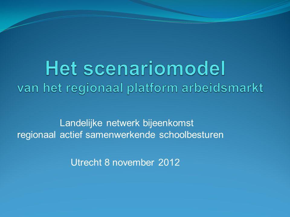 Landelijke netwerk bijeenkomst regionaal actief samenwerkende schoolbesturen Utrecht 8 november 2012