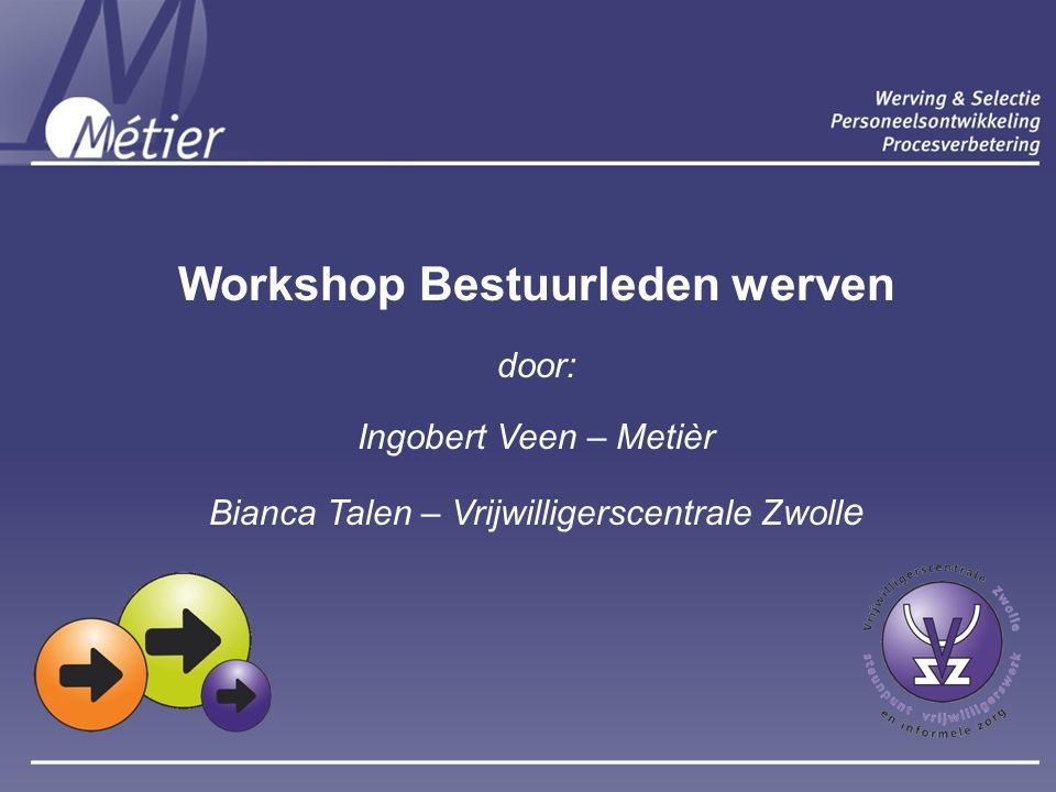 Vrijwilligerswerk Ingobert © Kwaliteitshandboek Métier Holding B.V.