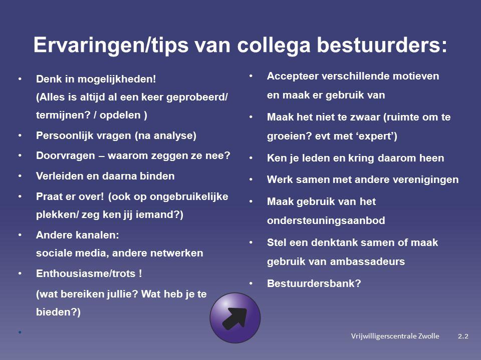 Vrijwilligerscentrale Zwolle Denk in mogelijkheden.
