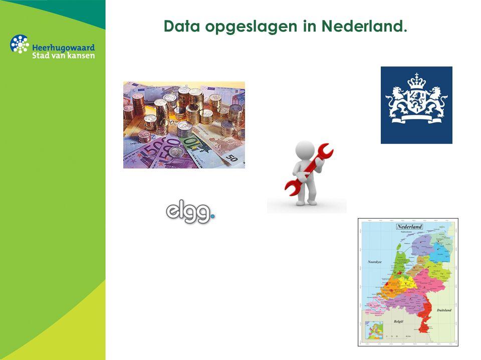 Data opgeslagen in Nederland.