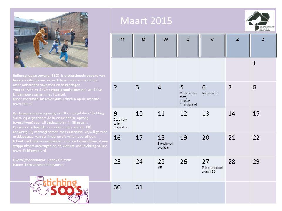 Buitenschoolse opvang (BSO) is professionele opvang van basisschoolkinderen op werkdagen voor en na school, maar ook tijdens vakanties en studiedagen.