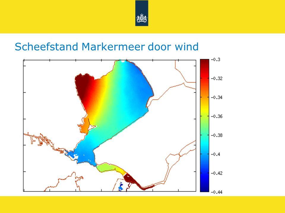 Scheefstand Markermeer door wind