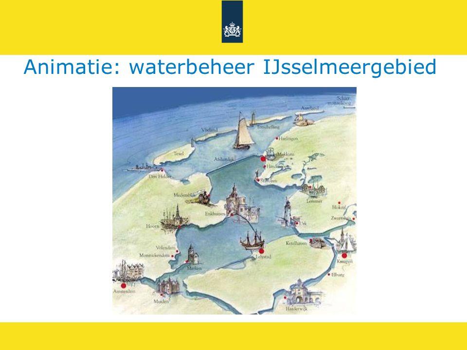 IJsselmeerWaddenzee Afsluitdijk Markermeer Houtribdijk Optie 2: extra pompen op de Afsluitdijk, zodat het peil van het IJsselmeer structureel op streefpeil staat pomp spui Kenmerken: 1.Spui mogelijk van Markermeer naar IJsselmeer 2.>1000 m3/s extra pompcapaciteit nodig op Afsluitdijk 3.Kosten: >500 tot 1000 miljoen €
