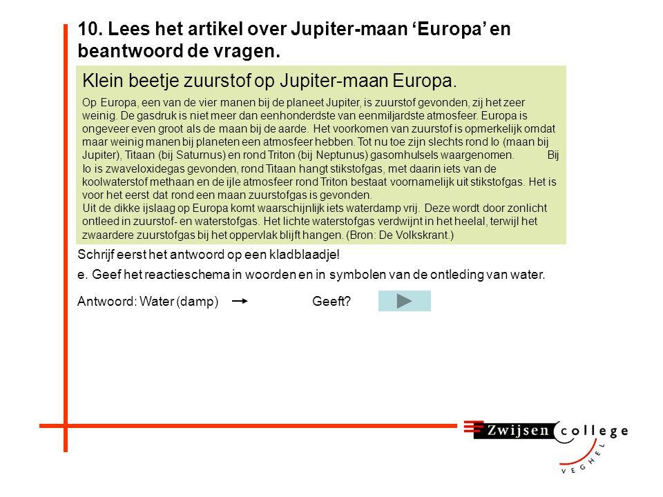 Klein beetje zuurstof op Jupiter-maan Europa.