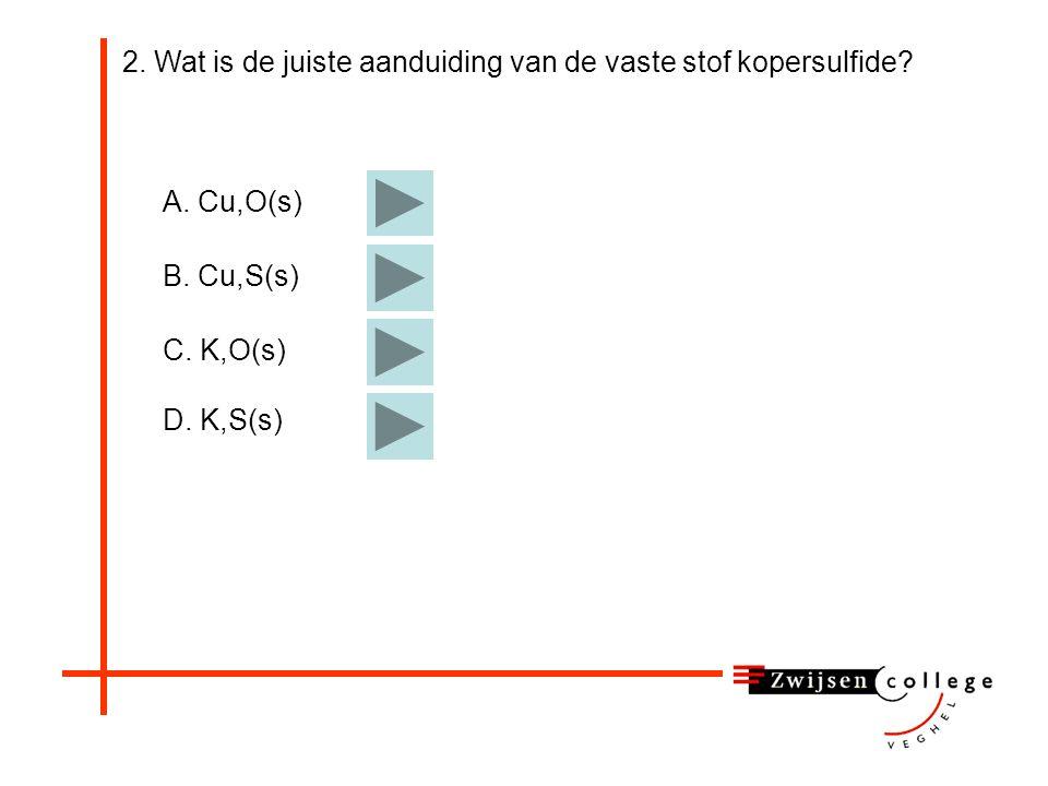 - Koperoxide (vast) + koolstof (gas) koper (vast) + koolstofoxide (gas) 6.