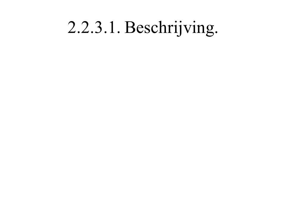 2.2.3.1. Beschrijving.