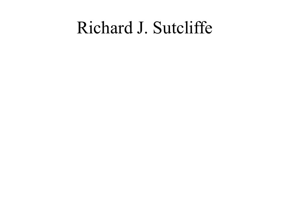 Richard J. Sutcliffe