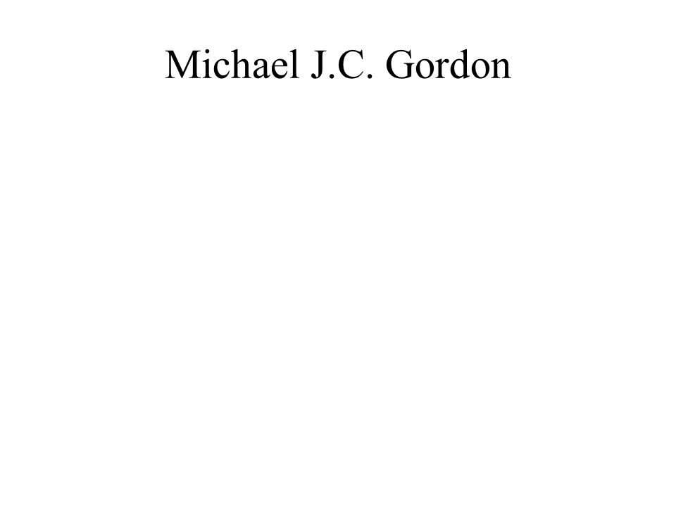 Michael J.C. Gordon