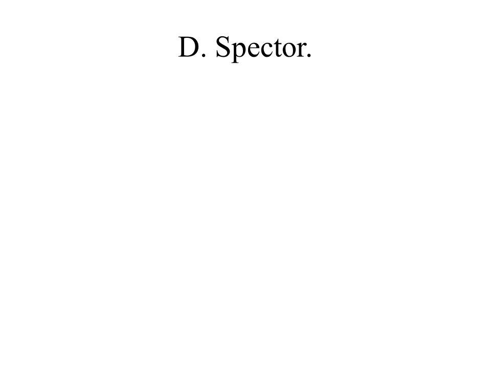 D. Spector.