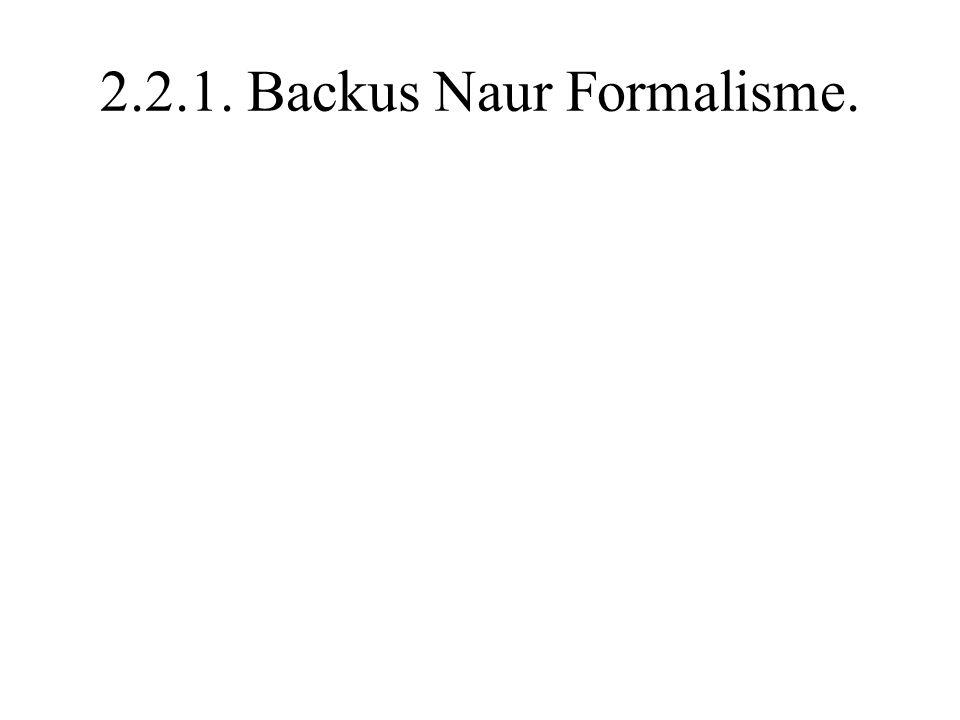 2.2.1. Backus Naur Formalisme.