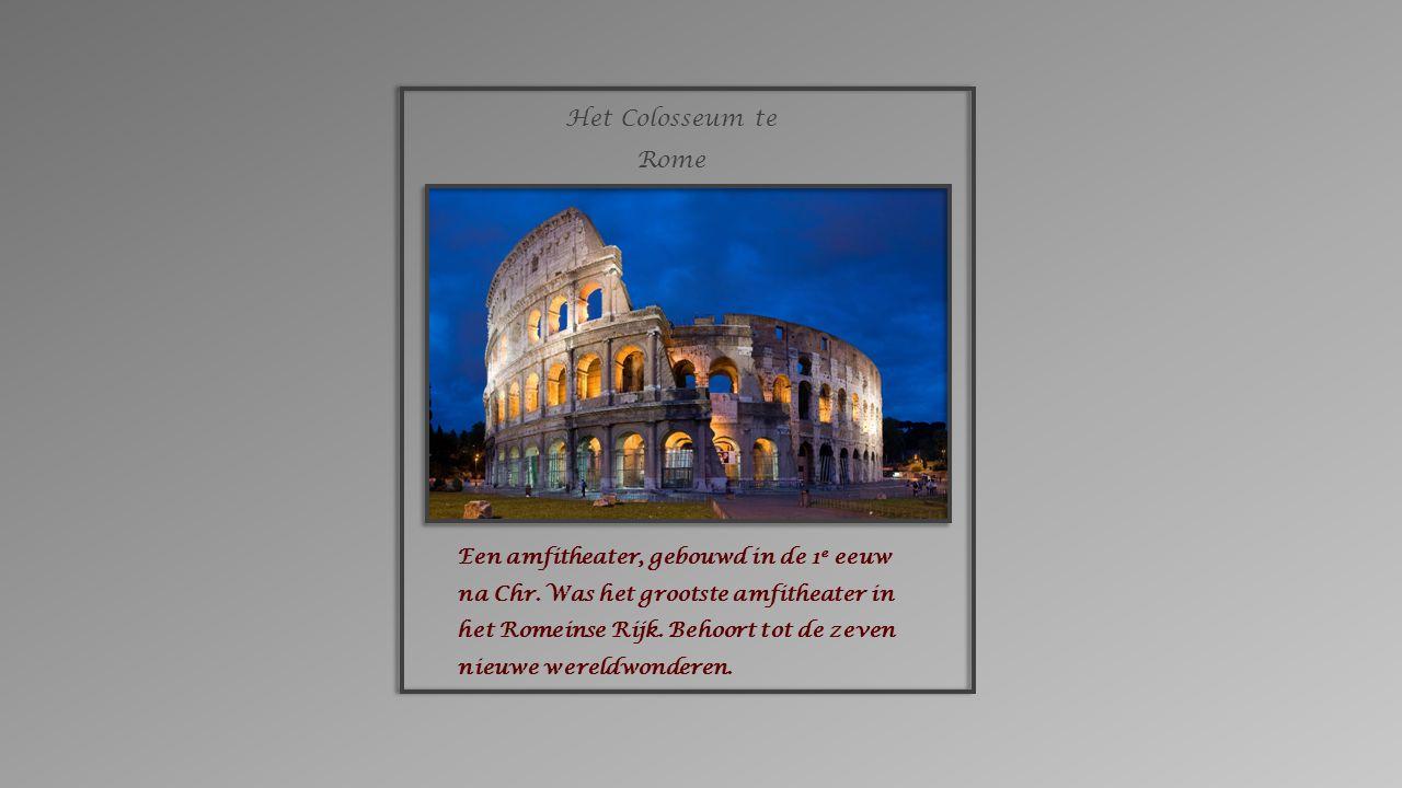 Een amfitheater, gebouwd in de 1 e eeuw na Chr.Was het grootste amfitheater in het Romeinse Rijk.