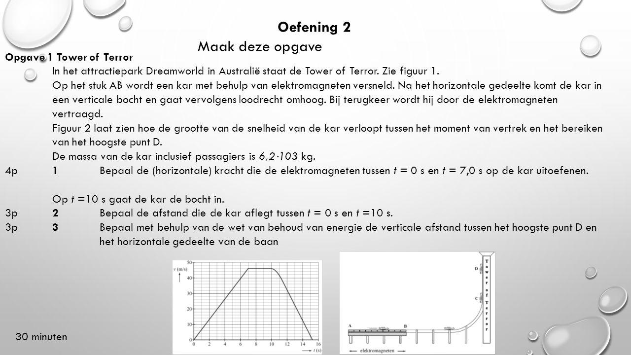Oefening 2 Maak deze opgave Opgave 1 Tower of Terror In het attractiepark Dreamworld in Australië staat de Tower of Terror. Zie figuur 1. Op het stuk