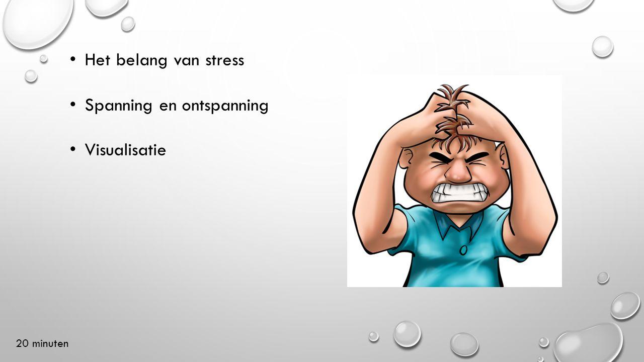 Het belang van stress Spanning en ontspanning Visualisatie 20 minuten