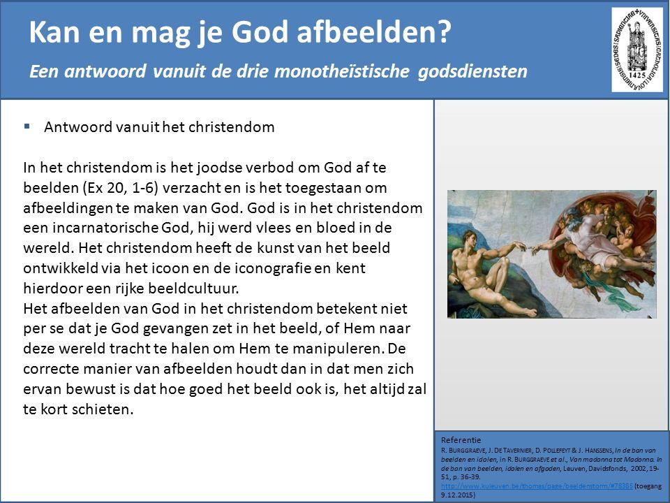 Kan en mag je God afbeelden. Referentie R. B URGGRAEVE, J.