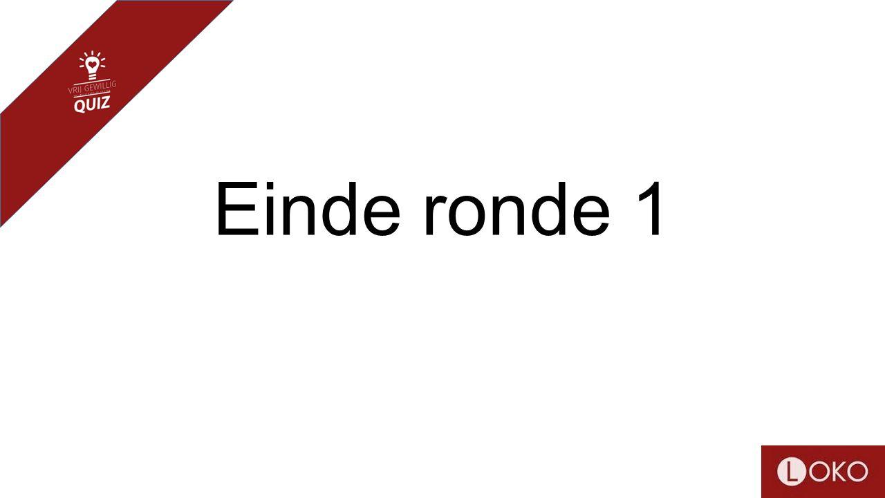 Einde ronde 1