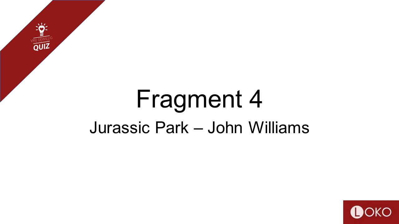 Fragment 4 Jurassic Park – John Williams