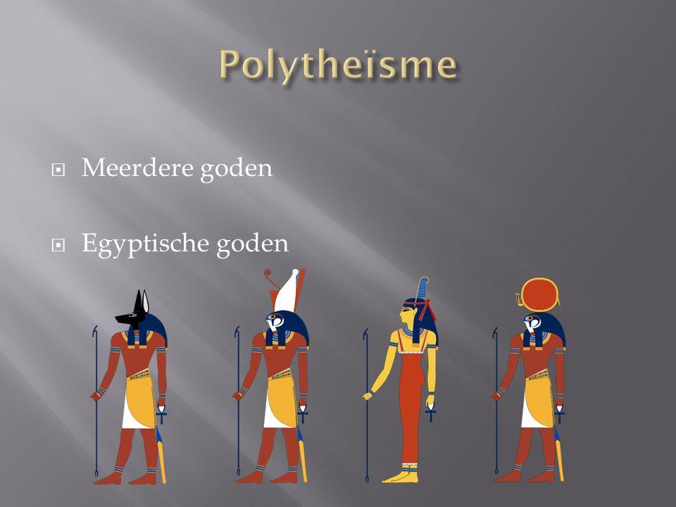  Meerdere goden  Egyptische goden