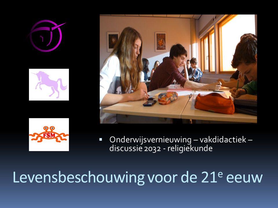 Lizzy Wijnen (onderzoek 'hidden religion') opleiding Humanistiek Werkte bij VOS/ABB (openbaar onderwijs) Om religie/levensbe- schouwing op openbare Van de grond te krijgen.