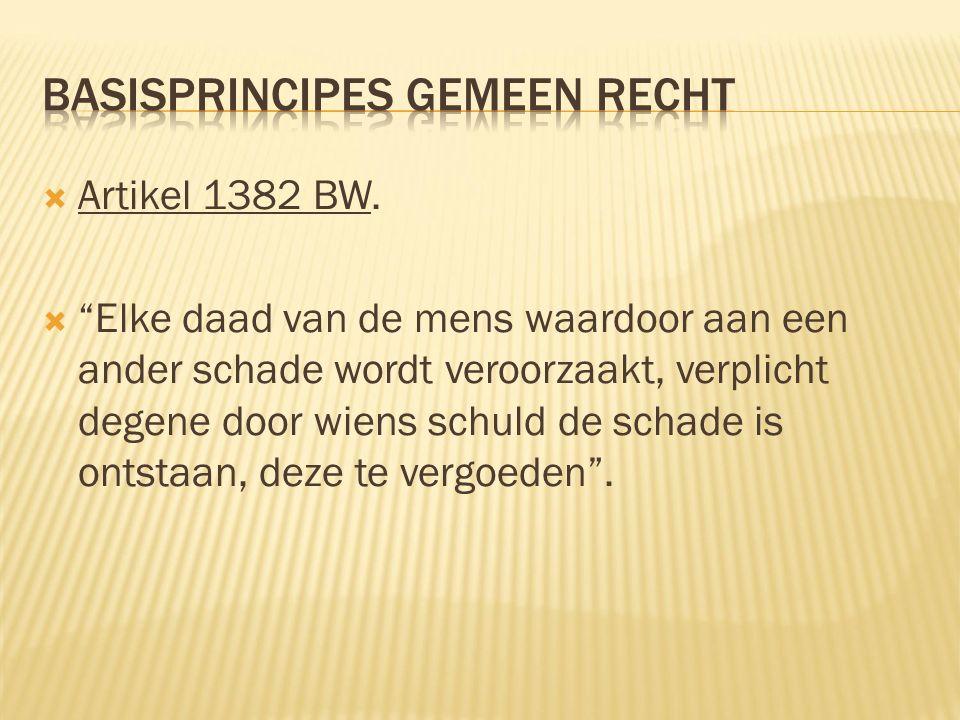  Artikel 1382 BW.