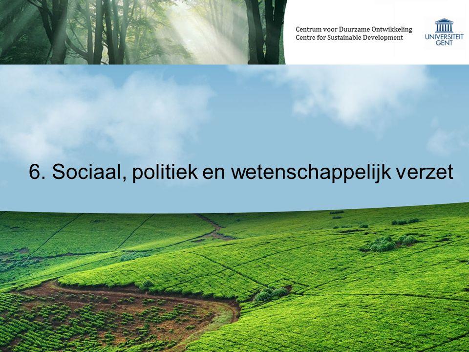 6. Sociaal, politiek en wetenschappelijk verzet