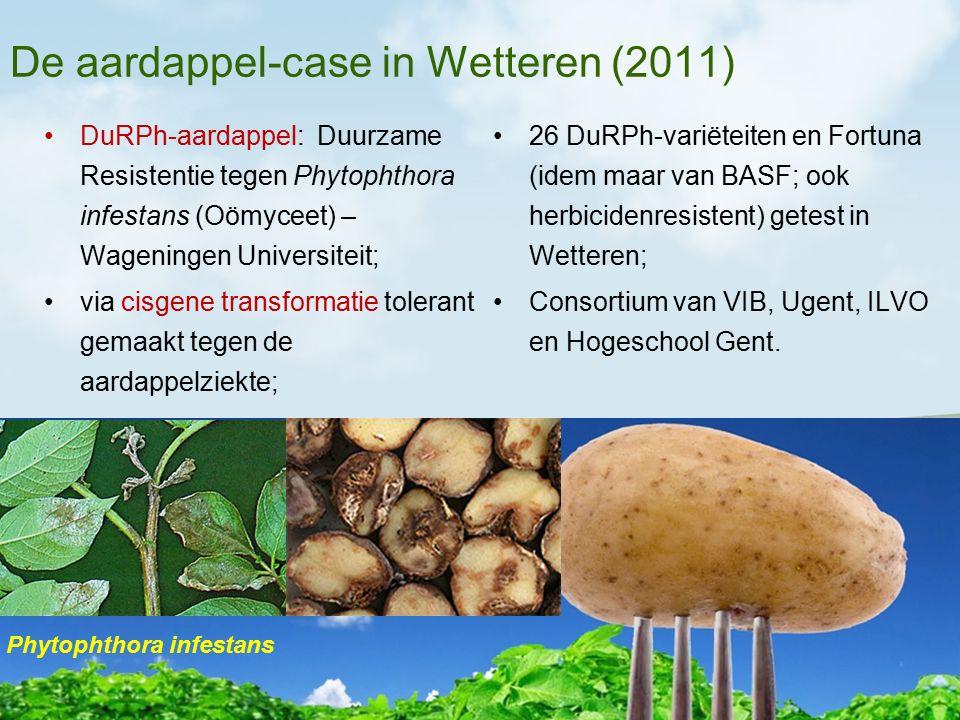De aardappel-case in Wetteren (2011) DuRPh-aardappel: Duurzame Resistentie tegen Phytophthora infestans (Oömyceet) – Wageningen Universiteit; via cisg