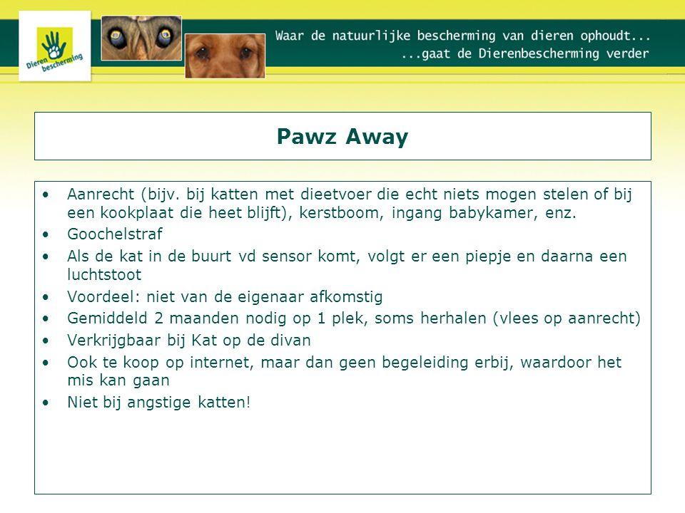 Pawz Away Aanrecht (bijv. bij katten met dieetvoer die echt niets mogen stelen of bij een kookplaat die heet blijft), kerstboom, ingang babykamer, enz