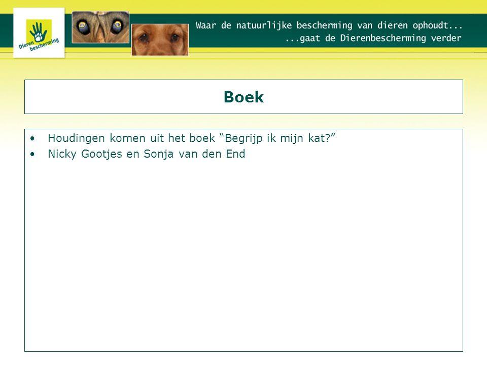 """Boek Houdingen komen uit het boek """"Begrijp ik mijn kat?"""" Nicky Gootjes en Sonja van den End"""