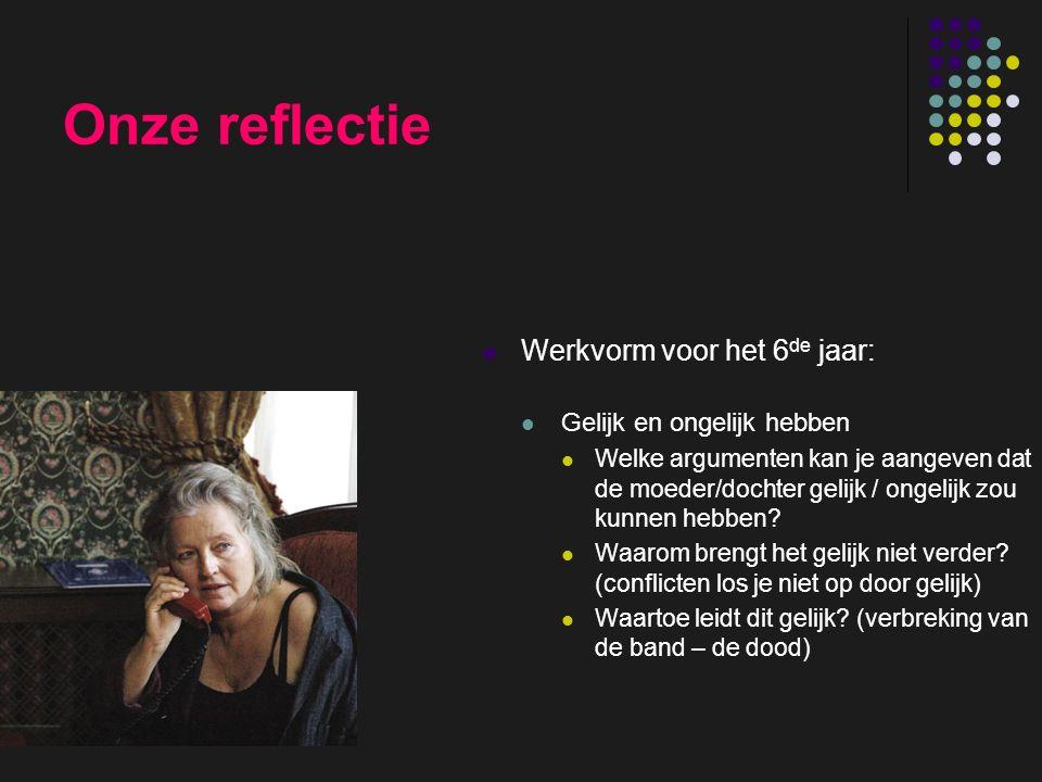 insp-beg RKG Antwerpen Onze reflectie Werkvorm voor het 6 de jaar: Gelijk en ongelijk hebben Welke argumenten kan je aangeven dat de moeder/dochter ge