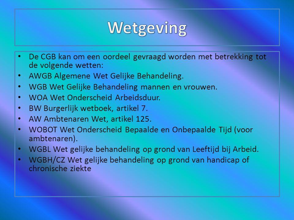 De Commissie gelijke behandeling (CGB) is een door de Nederlandse overheid ingestelde commissie die zich bezighoudt met het bevorderen van gelijke beh