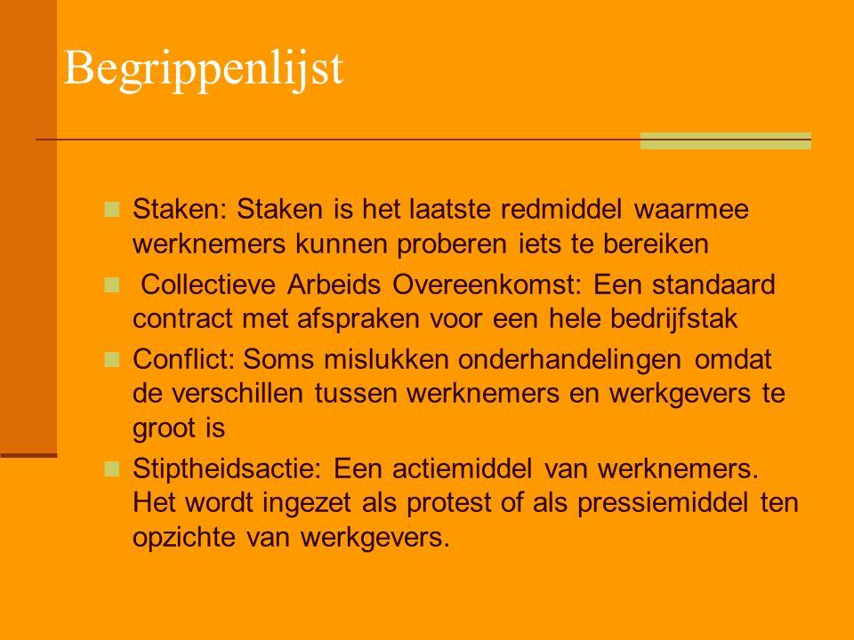 Begrippenlijst MKB-Nederland: De Koninklijke verenging midden -en klein bedrijf LTO-Nederland: De federatie van land –en tuinbouworganisaties Gemeensc