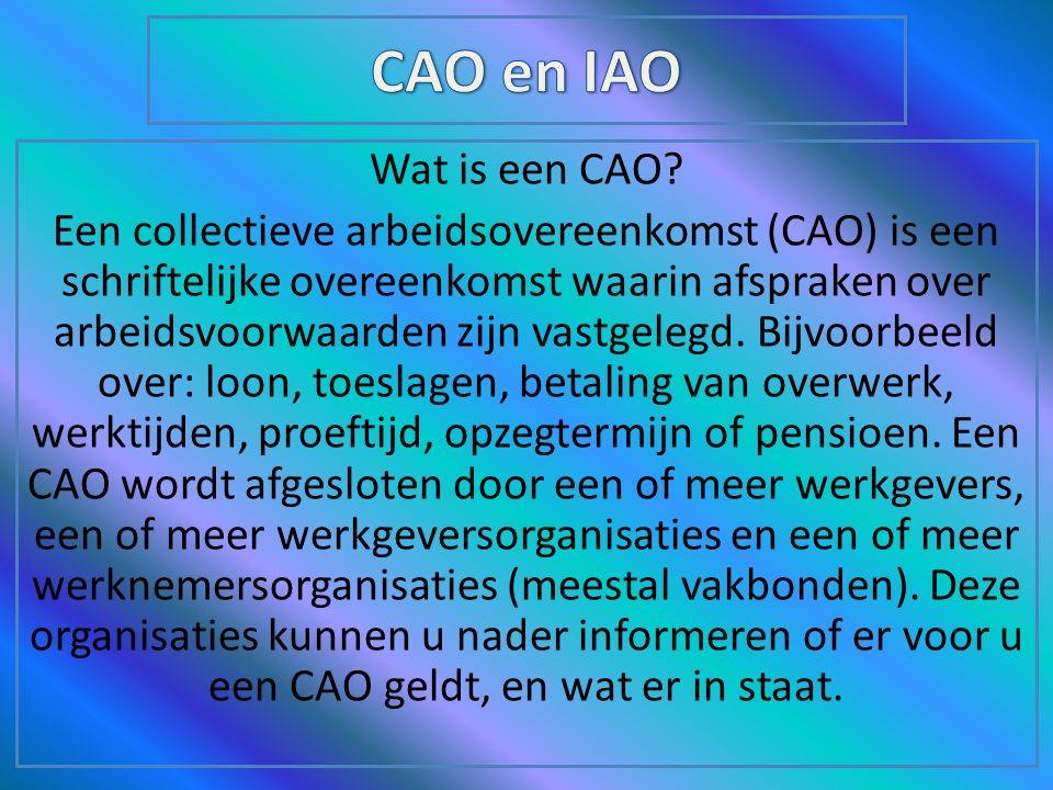 Wat is een CAO.