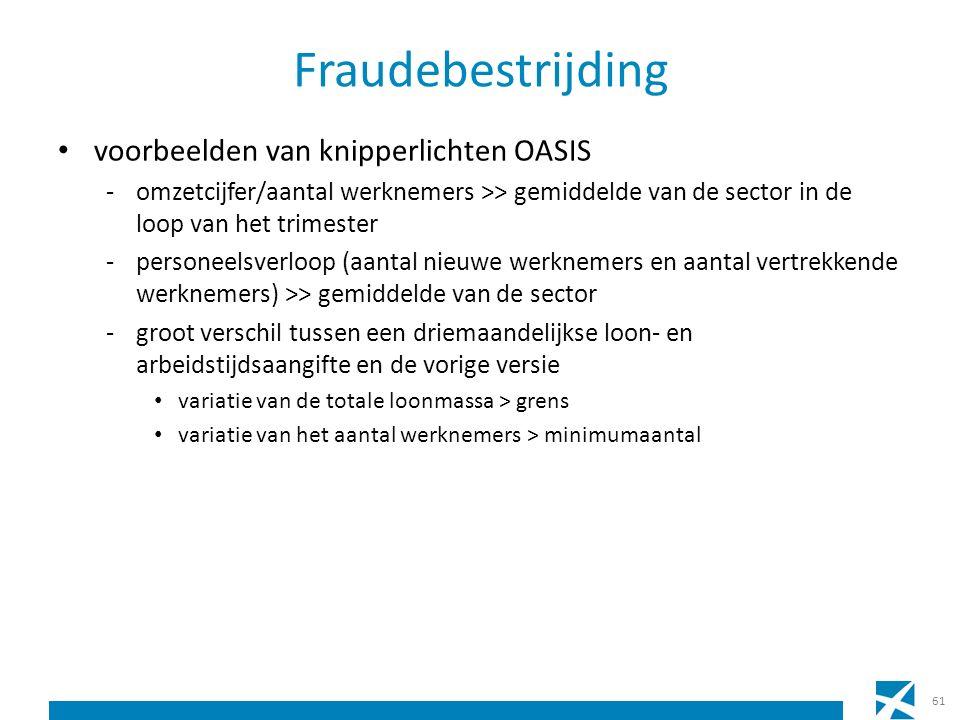 Fraudebestrijding voorbeelden van knipperlichten OASIS -omzetcijfer/aantal werknemers >> gemiddelde van de sector in de loop van het trimester -person