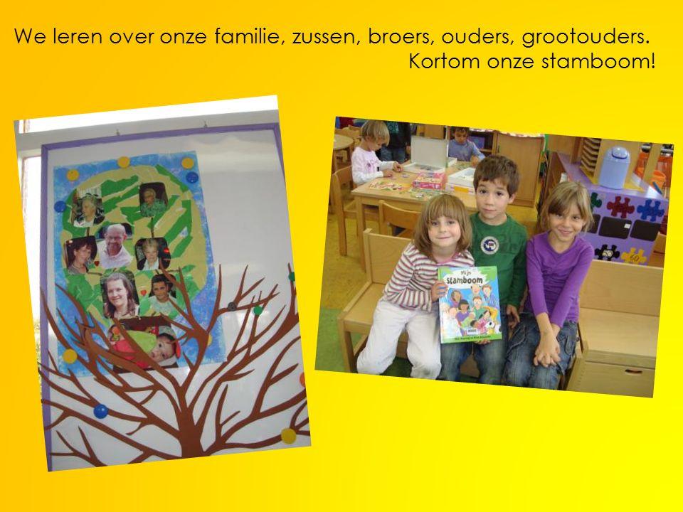 We leren over onze familie, zussen, broers, ouders, grootouders. Kortom onze stamboom!