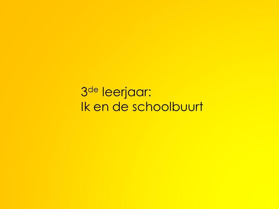 3 de leerjaar: Ik en de schoolbuurt