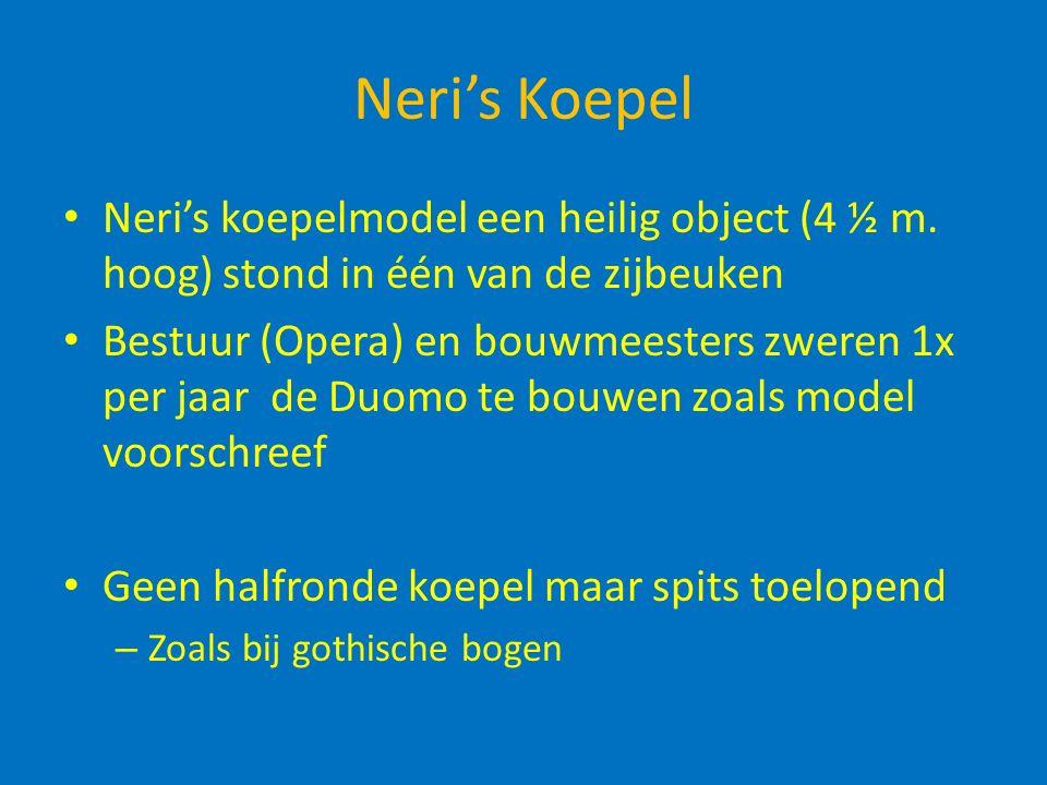 Neri's Koepel Neri's koepelmodel een heilig object (4 ½ m.