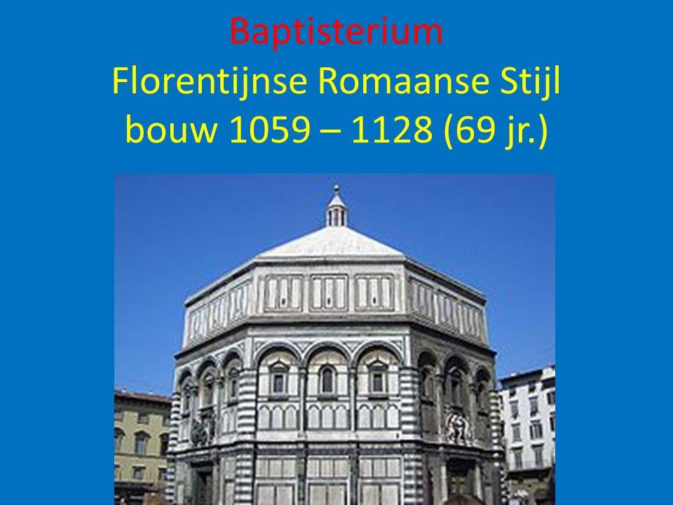 Filippo Brunelleschi 1418: concours oplossing technische problemen koepelbouw 12 modellen ingeleverd Slechts één model voor overkoepelen deze ruimte leek bruikbaar Van baksteen vervaardigde model niet van een timmerman of steenhouwer maar….
