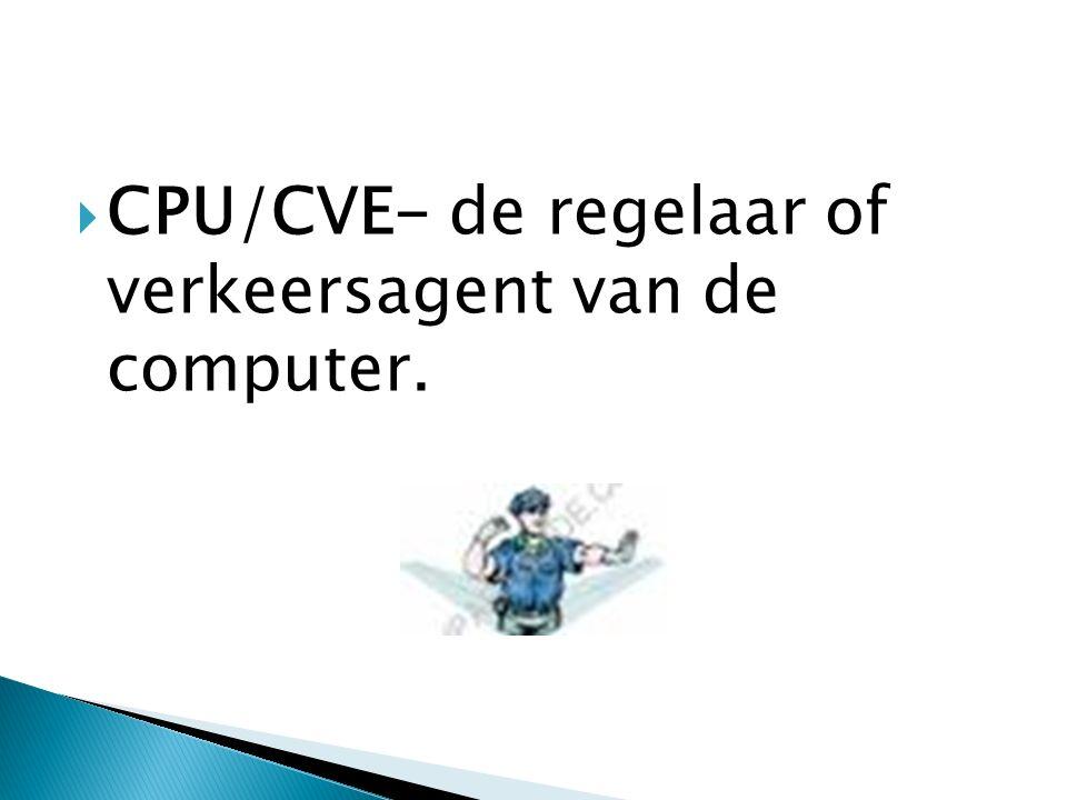  CPU/CVE- de regelaar of verkeersagent van de computer.