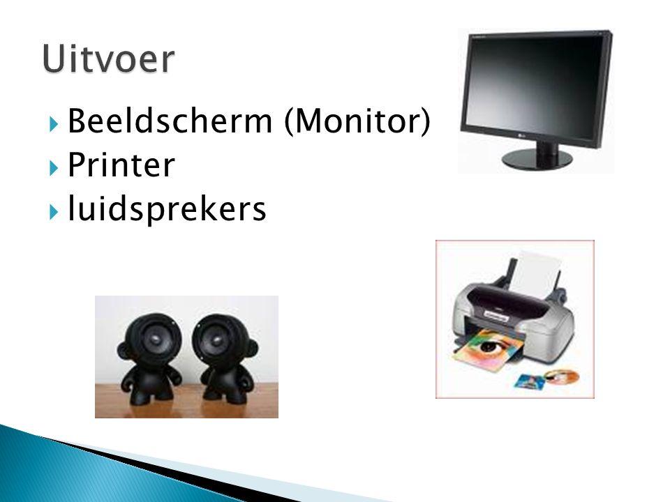  Beeldscherm (Monitor)  Printer  luidsprekers