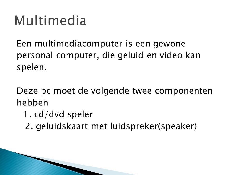 Een multimediacomputer is een gewone personal computer, die geluid en video kan spelen.