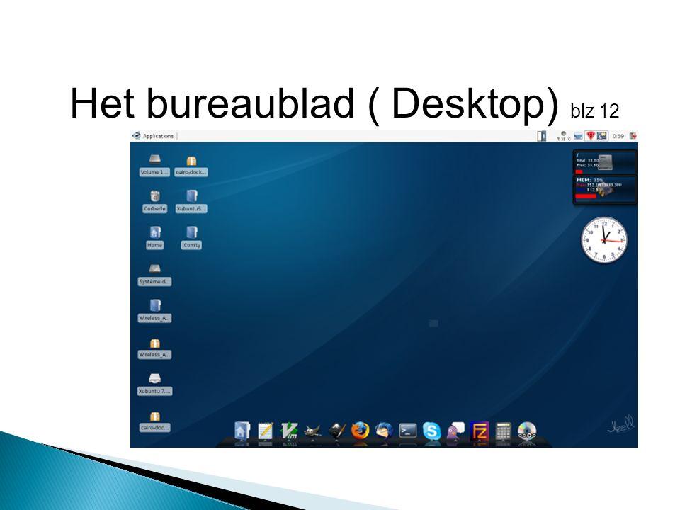 Het bureaublad ( Desktop) blz 12