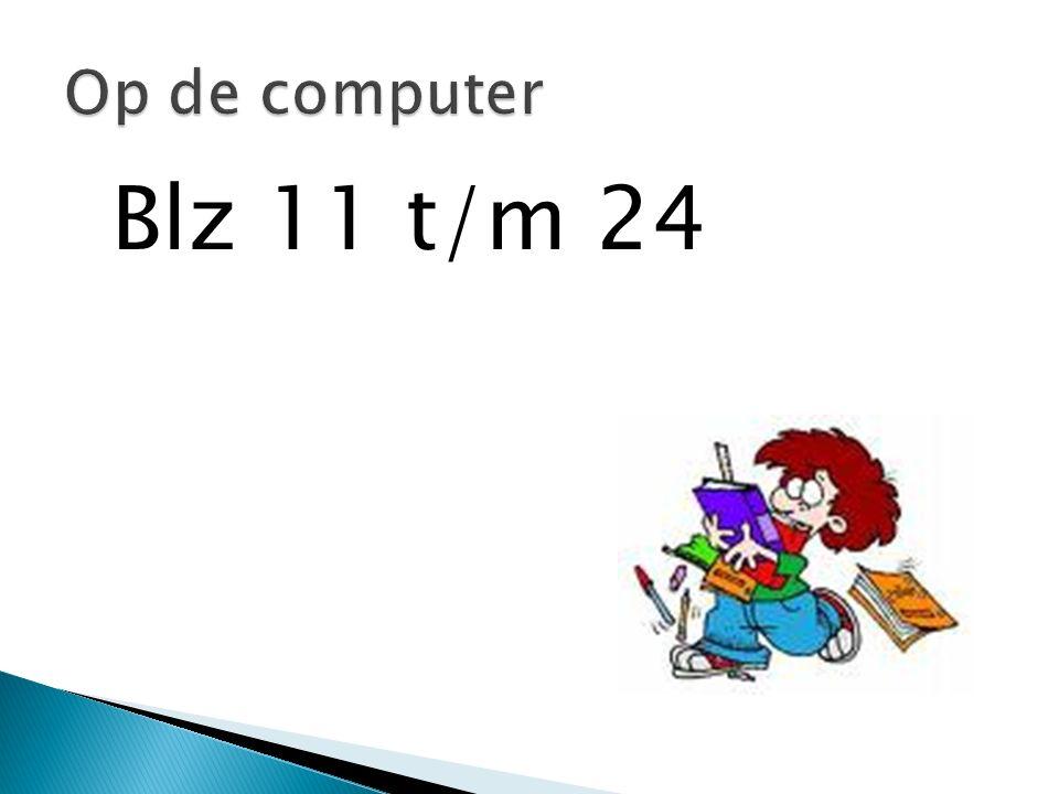 Blz 11 t/m 24 Op de computer