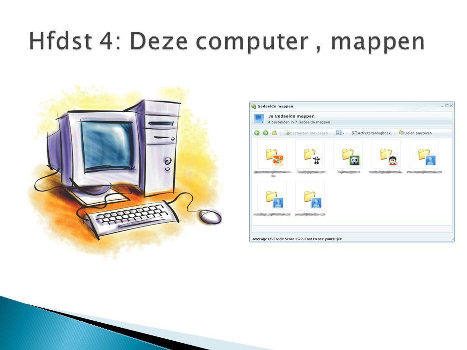 Hfdst 4: Deze computer, mappen