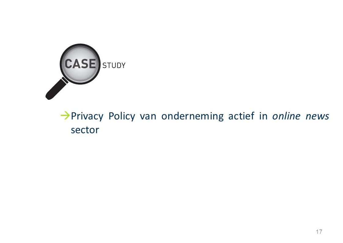 17  Privacy Policy van onderneming actief in online news sector