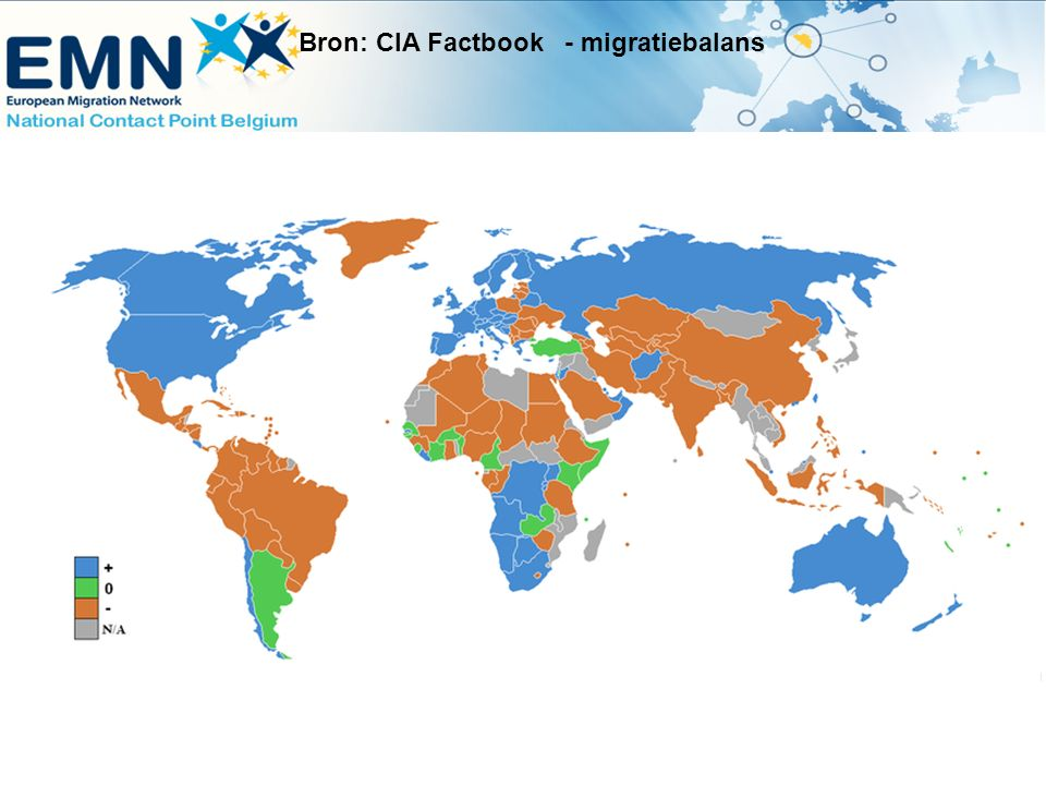 Bron: CIA Factbook - migratiebalans