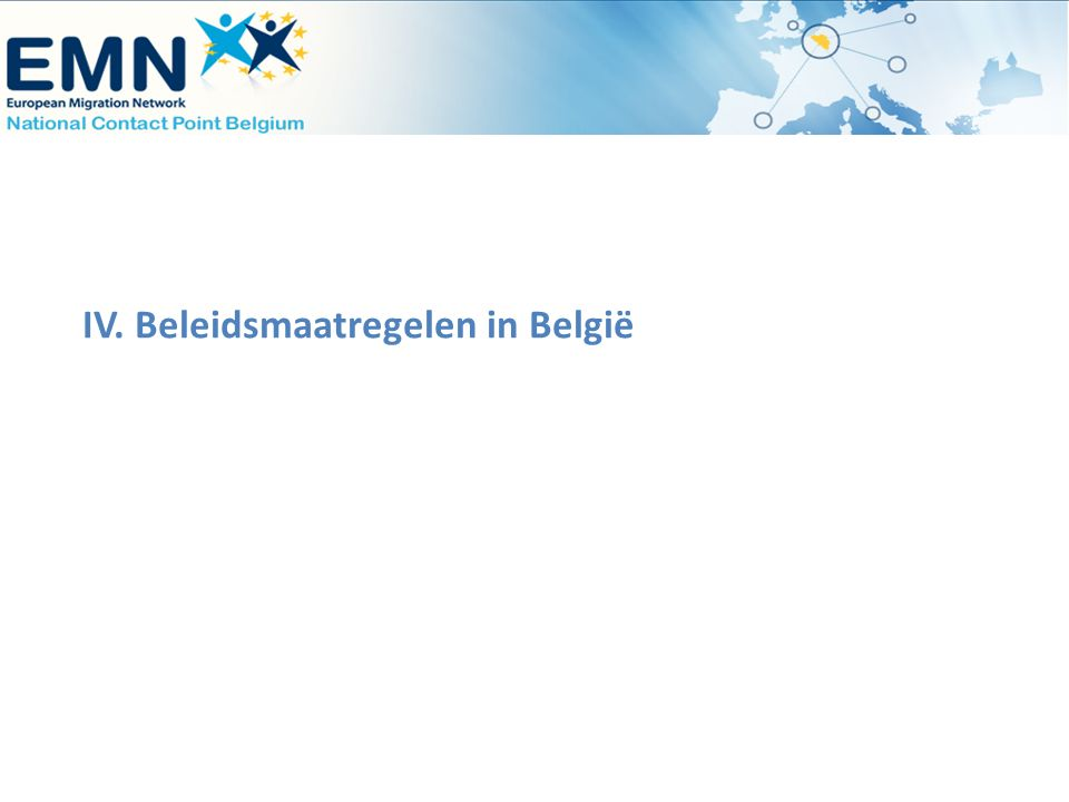 IV. Beleidsmaatregelen in België