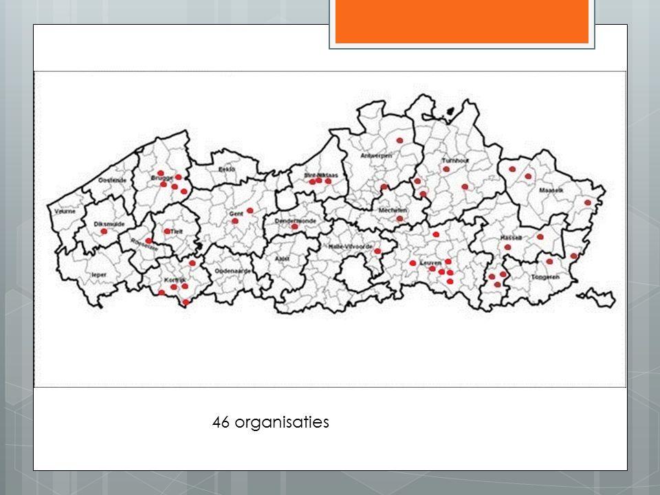 46 organisaties