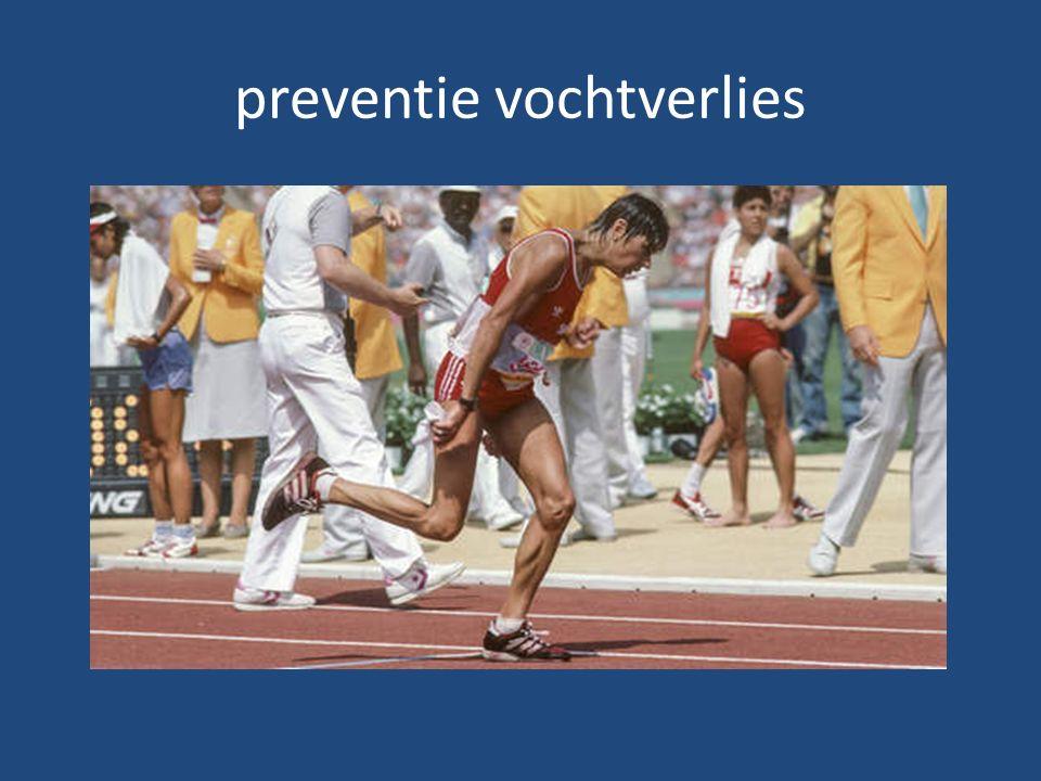 preventie vochtverlies
