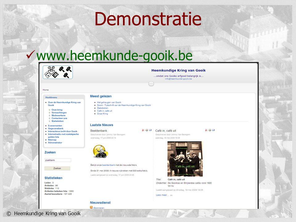 © Heemkundige Kring van Gooik Demonstratie www.heemkunde-gooik.be